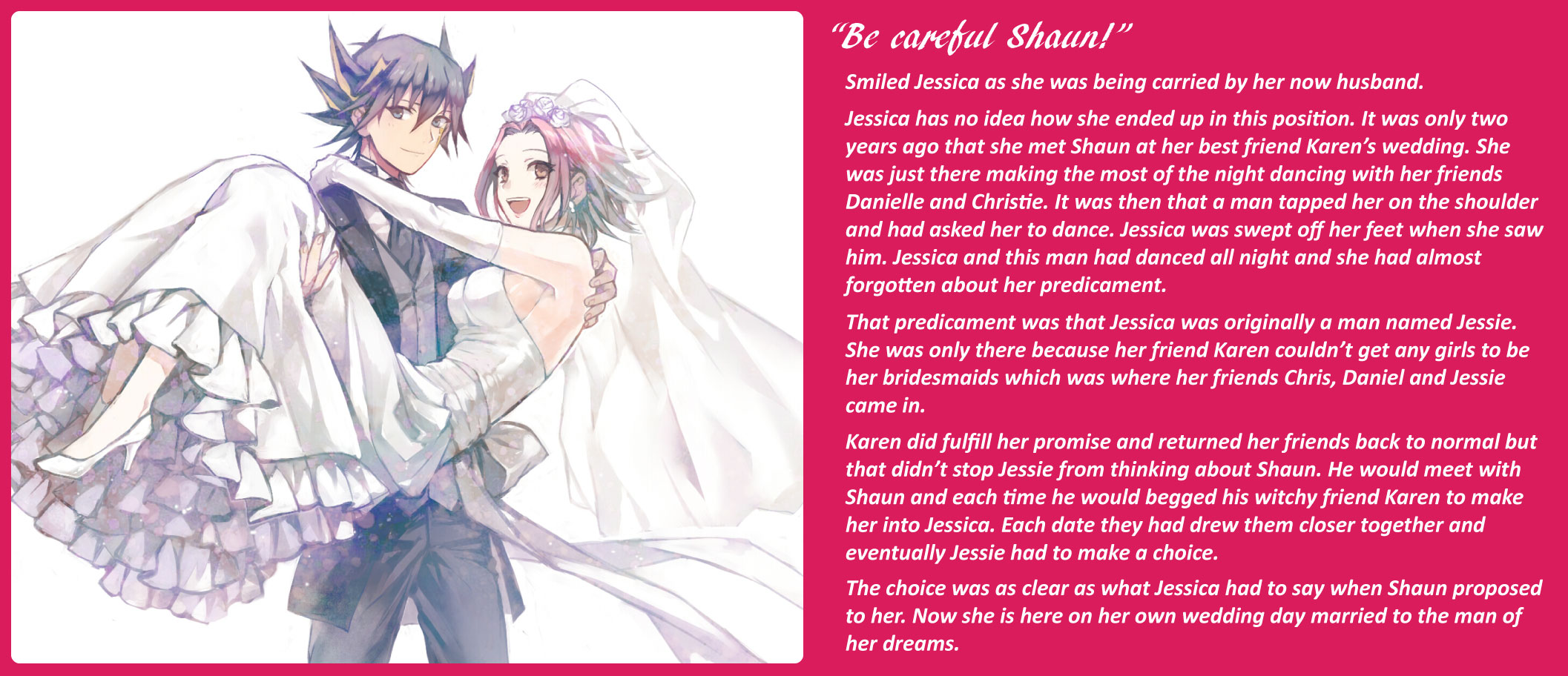Bride in White | TG Captions Cafe